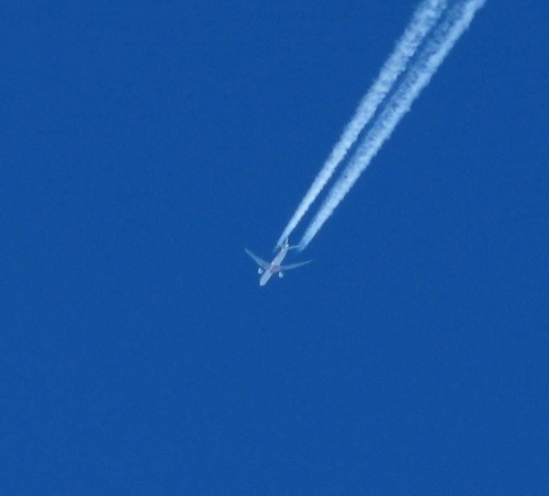 B777 Emirates UN191 bardziej na zachód
