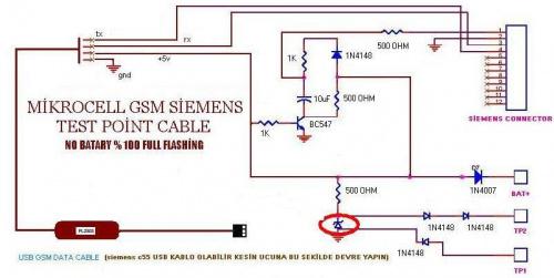 Poszukuję schematu kabla serwisowego USB do Siemens C65
