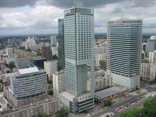 Warszawa- widok z Pałacu Kultury #panorama #Warszawa #widok #wycieczka