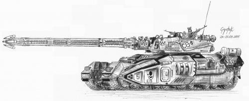 #czołg #rysunek #wóz #mecha