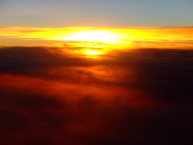 z samolotu #słońce #niebo #chmury