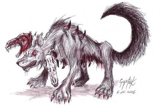 #potwór #demon #pies #horror #gothic