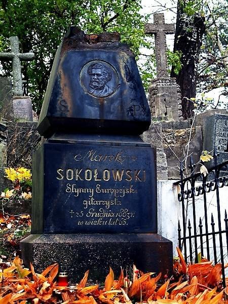Marek Konrad Sokolowski (1818 - 1883) - gitarzysta wirtuoz. Zachowaly sie wiersze W.Syrokomli dedykowane Sokolowskiemu.Pomnik ustawiono w 1888 roku (autor B.Jacunski) #RossaCmentarz