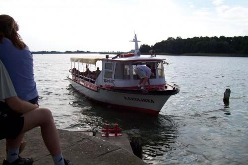 Statek wycieczkowy w Skorzęcinie - jez. Niedzięgiel