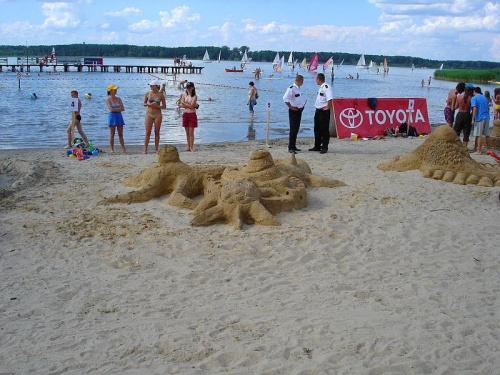 Jezioro Roś - Plaża Miejska #JezioroRoś #BudowleZPiasku #PlażaMiejska #LATO2005 #Roś