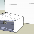 Prerendere sklepiku w skateparku #skatepark #box #sklep #dach #drzwi #okno #render #prerender