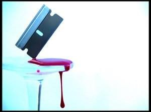 kocham żyletki i krew